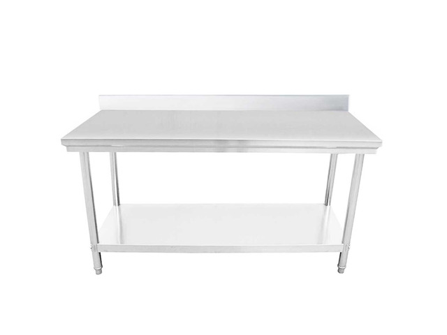 SOGA 120*70*85cm Commercial Catering Kitchen Stainless Steel Prep Work Bench - 5