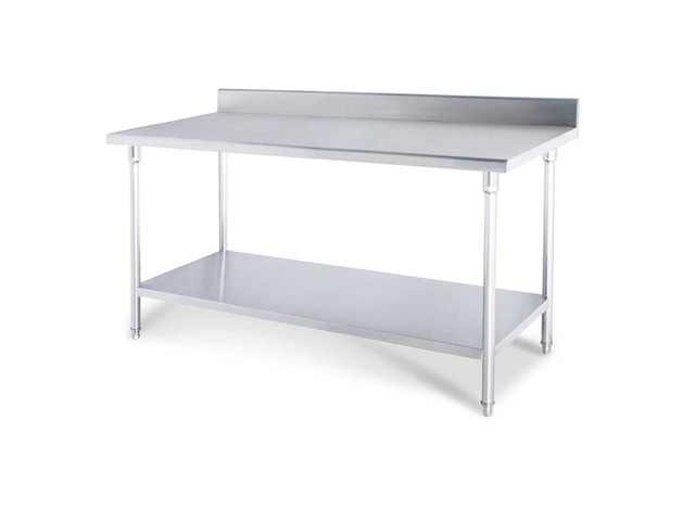 SOGA 120*70*85cm Commercial Catering Kitchen Stainless Steel Prep Work Bench - 6