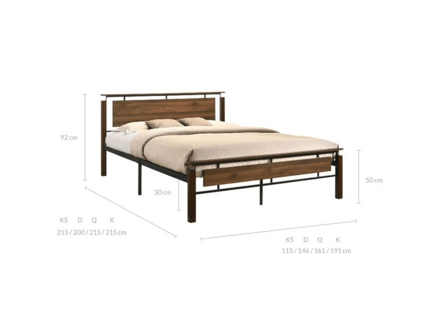Nicole Industrial Bed King Size - 3