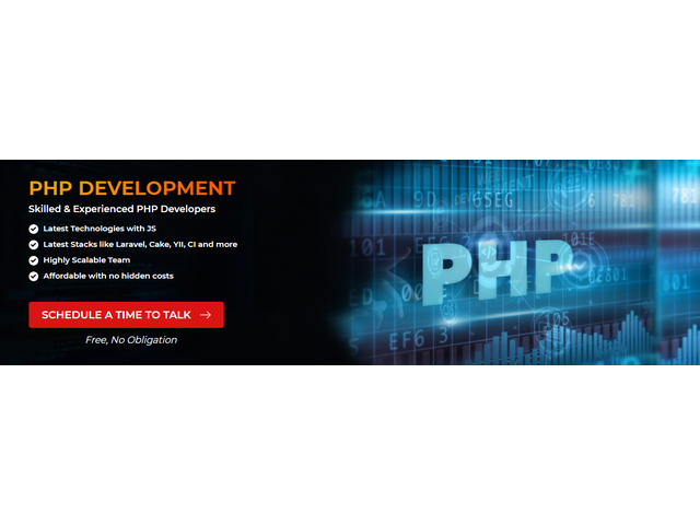 Hire dedicated PHP developers from us - 1