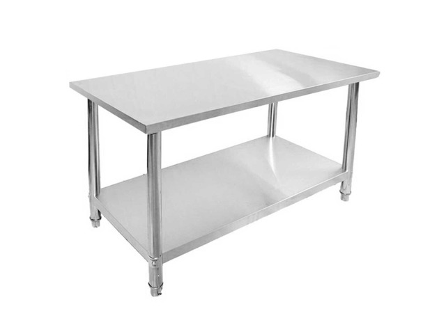 SOGA 150*70*85cm Commercial Catering Kitchen Stainless Steel Prep Work Bench - 1