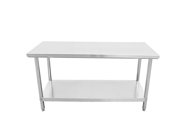 SOGA 150*70*85cm Commercial Catering Kitchen Stainless Steel Prep Work Bench - 5