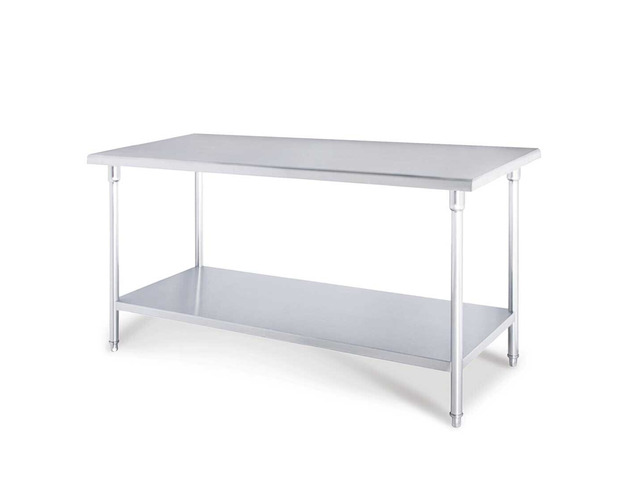 SOGA 150*70*85cm Commercial Catering Kitchen Stainless Steel Prep Work Bench - 6