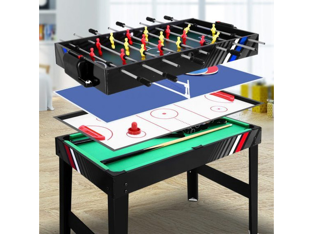 4FT 4-In-1 Soccer Table Tennis Ice Hockey Pool Game - 1