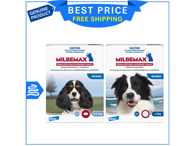 Milbemax Allwormer Tablets For Dogs - 1