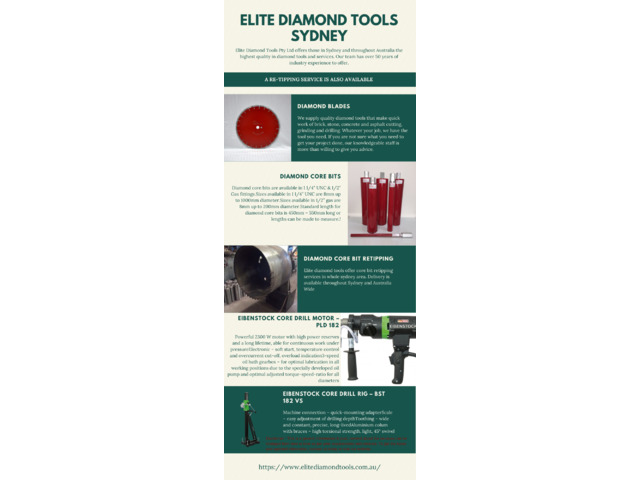 Buy High quality diamond tools Products in Sydney - 1