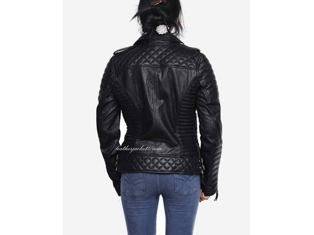 Kay Michael Quilted Leather Jacket - 1