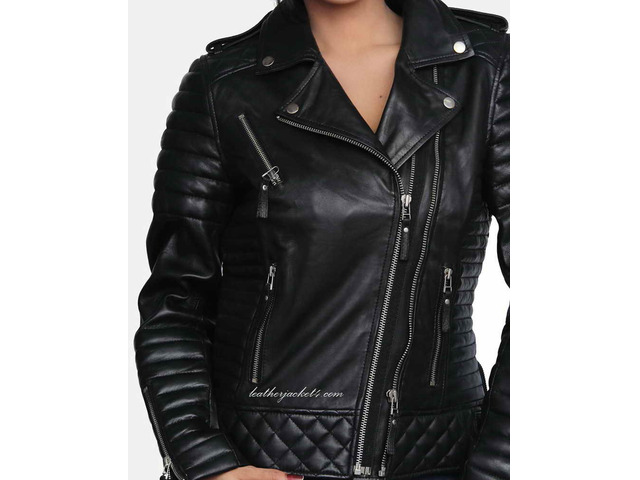 Kay Michael Quilted Leather Jacket - 2