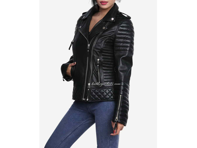 Kay Michael Quilted Leather Jacket - 3