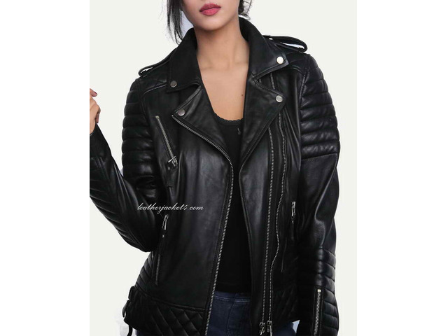 Kay Michael Quilted Leather Jacket - 4