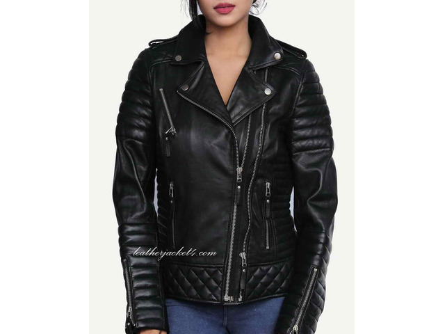 Kay Michael Quilted Leather Jacket - 5