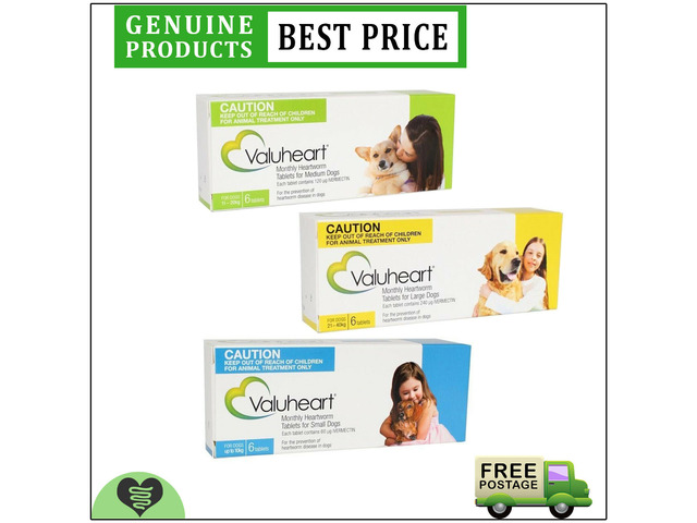 VALUHEART Monthly Heartworm Prevention Tablets For Dogs 6 Doses All Sizes - 1