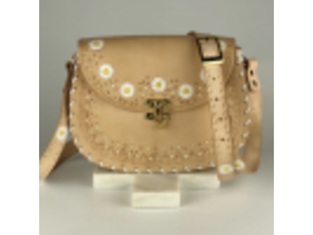 Daisy Chain – Hobo Nude   Leather Crossbody Hobo bags   Tirzart Boutique - 1