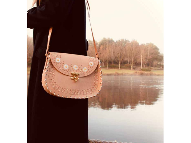 Daisy Chain – Hobo Nude   Leather Crossbody Hobo bags   Tirzart Boutique - 2