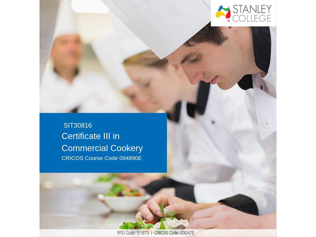 Trained in different methods of cookery with our certificate III in commercial cookery - 1