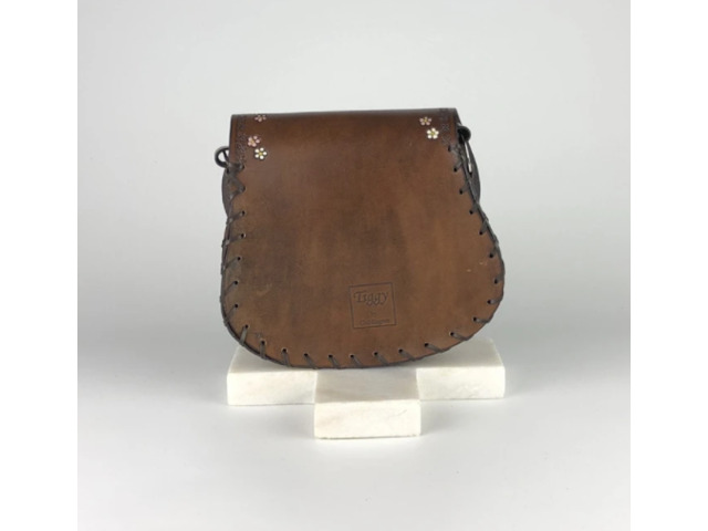 Daisy Chain Mini Hobo Bag Vintage Brown for Women's - Tirzart Boutique - 3