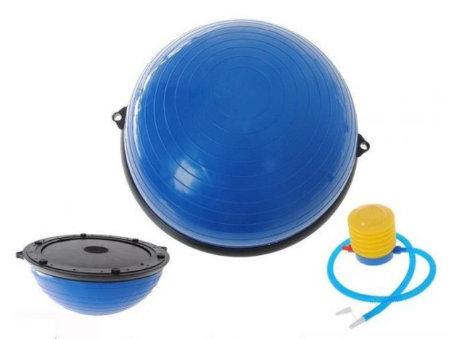 Gym Balance Core Ball with Resistance Strap - 1