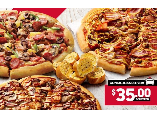 3 Large Pizzas On Sale Pizza Hut Orange - 1