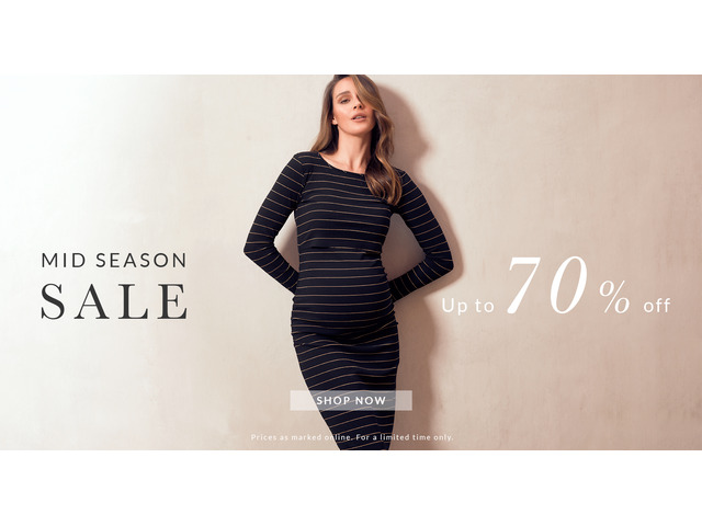 Sale up to 70% off on maternity clothing | Soon Maternity - 1