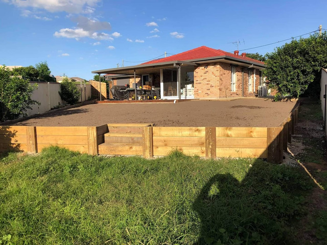 Want a flat back yard - 2