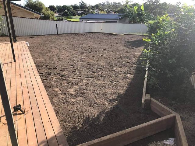 Want a flat back yard - 4