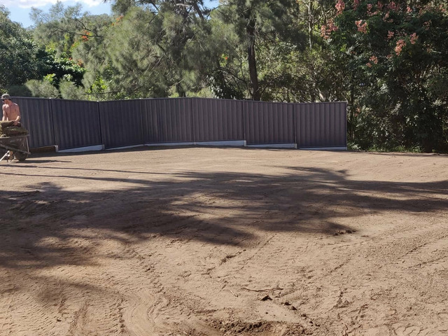Massive yard raise into an oasis -Retaining and Fencing - 2
