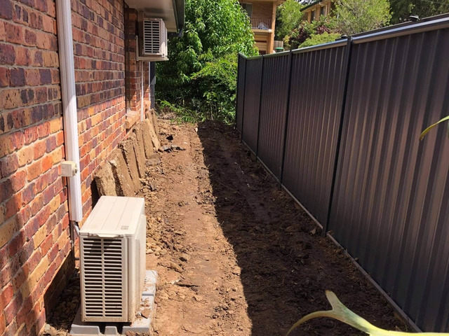 Massive yard raise into an oasis -Retaining and Fencing - 4