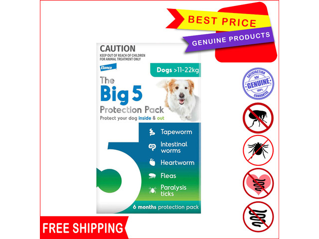 The Big 5 Protection Pack for Dogs 11 to 22 Kg - 1