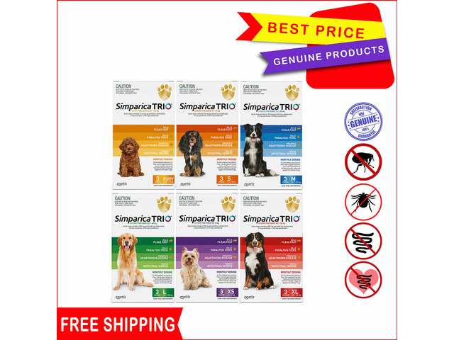 Simparica Trio for Dogs to protect from harmful parasites - 1