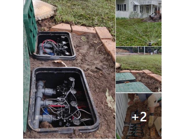Fully automatic 8 station irrigation set up - 1