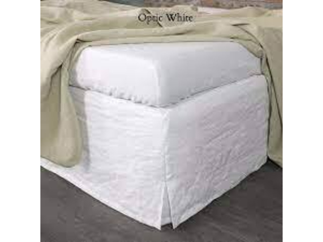 100% Linen Bed Skirt With 4 Slitted Corners From Linenshed Australia - 1