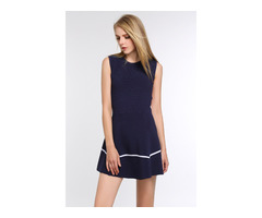 Brand New Two Toned A-Line Dress in Royal Blue