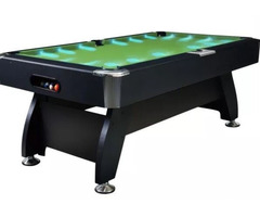 Luxury 8FT MDF Billiard/Pool/Snooker Table (Red Felt/Black Frame) With Super Bright LED
