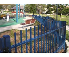 Playground Fencing, With Tangorail Structure Giving a Colour Full Look