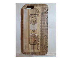 iPhone 6 / 6s 100% Natural Bamboo Wooden Cassette Tape Back Case Cover at $9.95 with Free Shipping