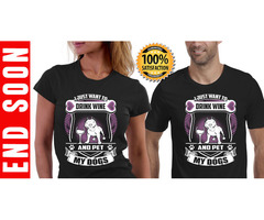 Buy Wine with Petting Dogs T-Shirt – Teespring