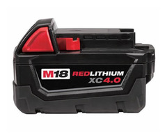 4.0Ah 18V Lithium Ion Battery For Milwaukee M18 M18B4 48-11-1828