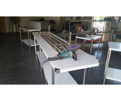 NEW Stainless steel bench 2900x650x900 high