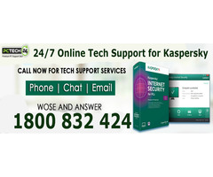 Call us 1800 832 424 for Kaspersky Tech Support Services.