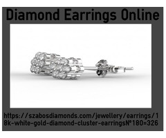 18K White Gold Diamond Earring Online With Style