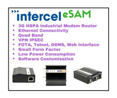Intercel eSAM is an HSPA 3G modem router with Ethernet interface.