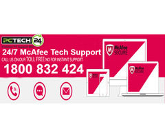 Call on 1800-83-2424 for McAfee Tech Support Services