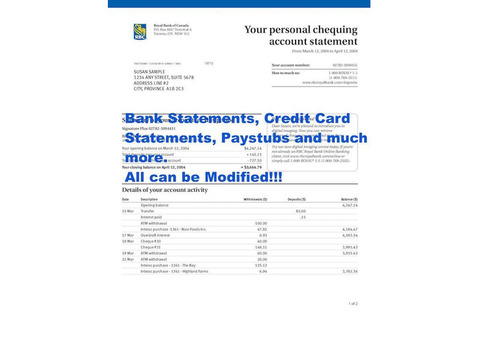 Do you want your Bank Statements Modified?