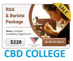 NSW RSA and Barista Accredited Training $220 Only