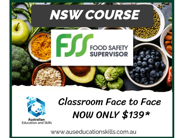 NSW FOOD SAFETY SUPERVISOR (FSS) COURSE ONLY $139* in Bankstown and Fairfield - 1