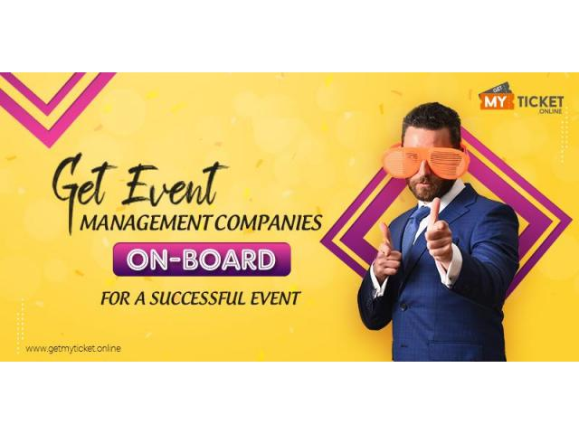 Get Event management companies on-board for a successful event. - 1