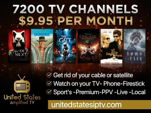 7200 Live TV Channels $9.95/mo - 1