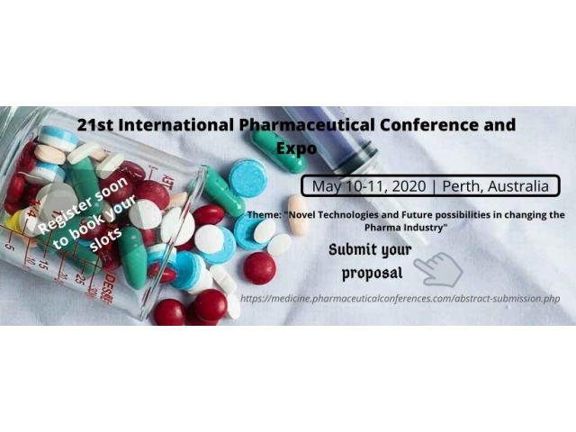 21st International Pharmaceutical Conference and Expo May 10-11, 2020 Perth, Australia - 1
