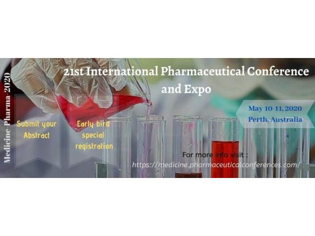 21st International Pharmaceutical Conference and Expo May 10-11, 2020 Perth, Australia - 2