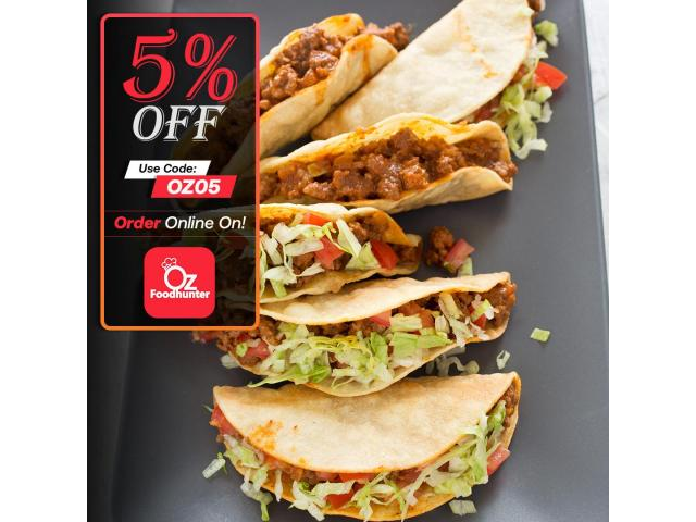 Grab your tasty Mexican dishes at Zambrero Ashmore get - 5% off - 2